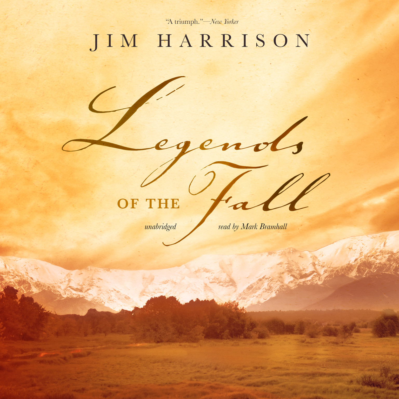 Printable Legends of the Fall Audiobook Cover Art