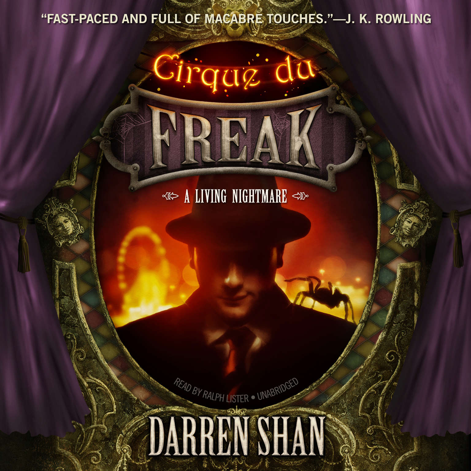 Printable Cirque du Freak: A Living Nightmare Audiobook Cover Art