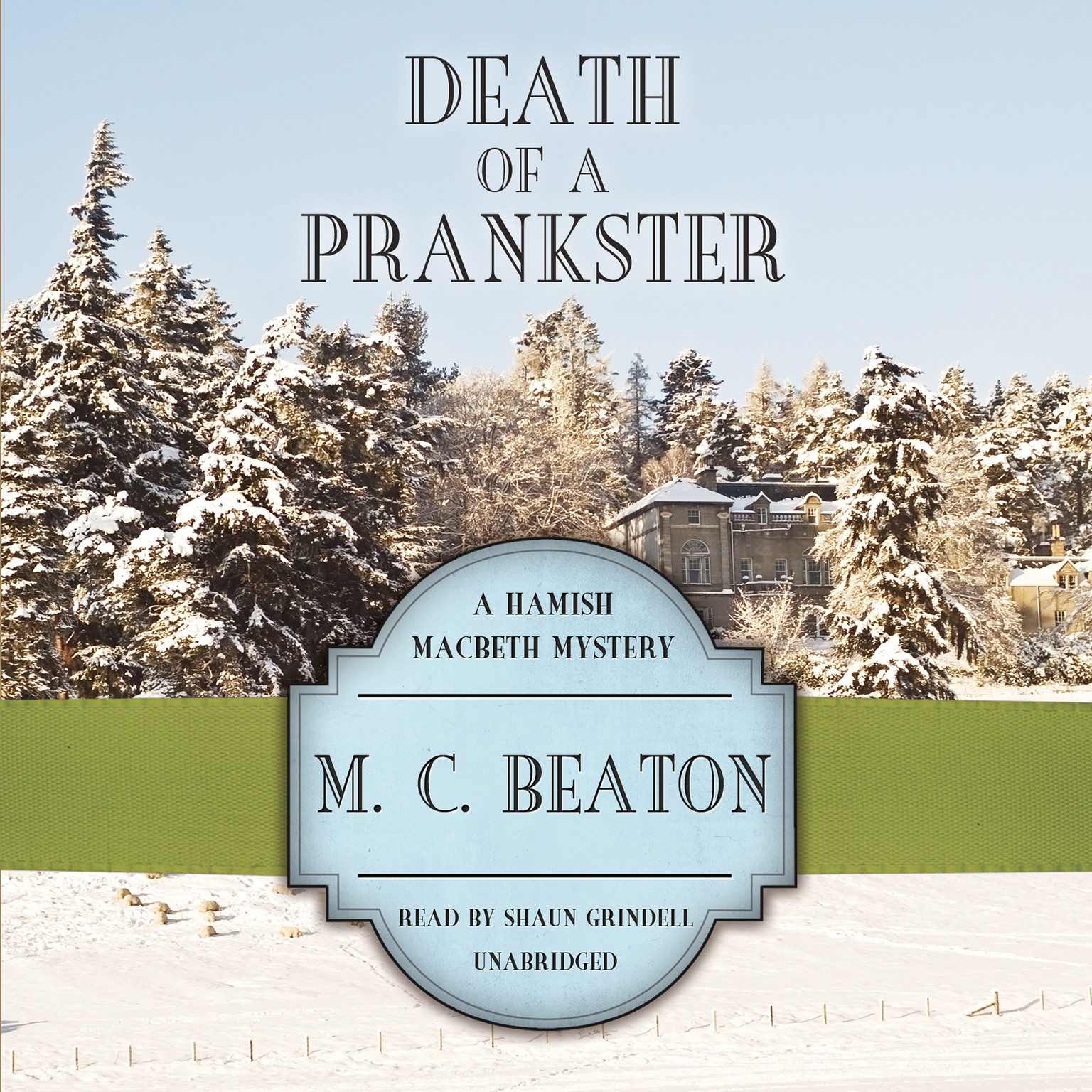 Printable Death of a Prankster Audiobook Cover Art