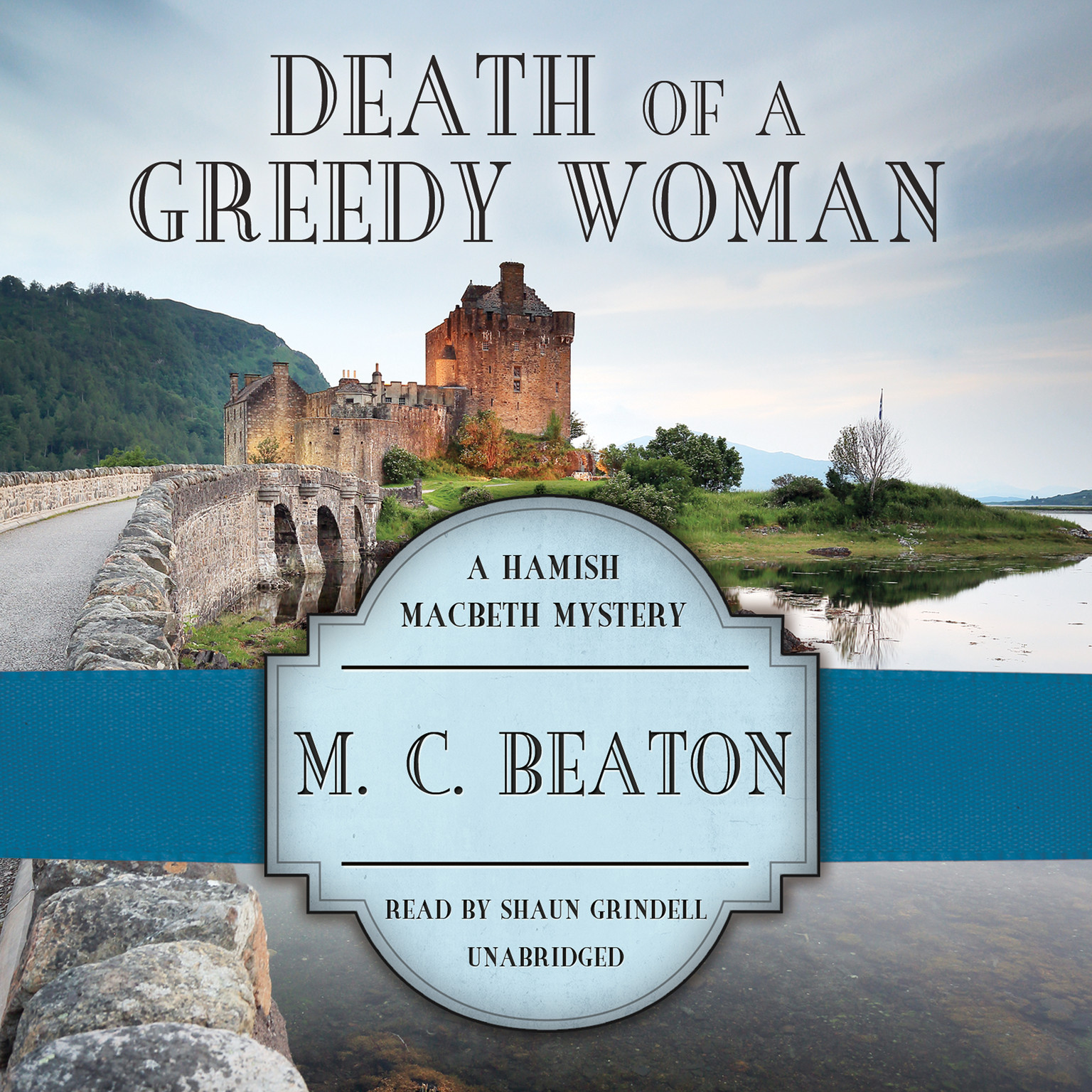 Printable Death of a Greedy Woman Audiobook Cover Art