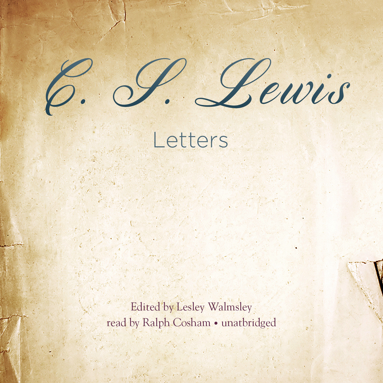 Printable Letters Audiobook Cover Art