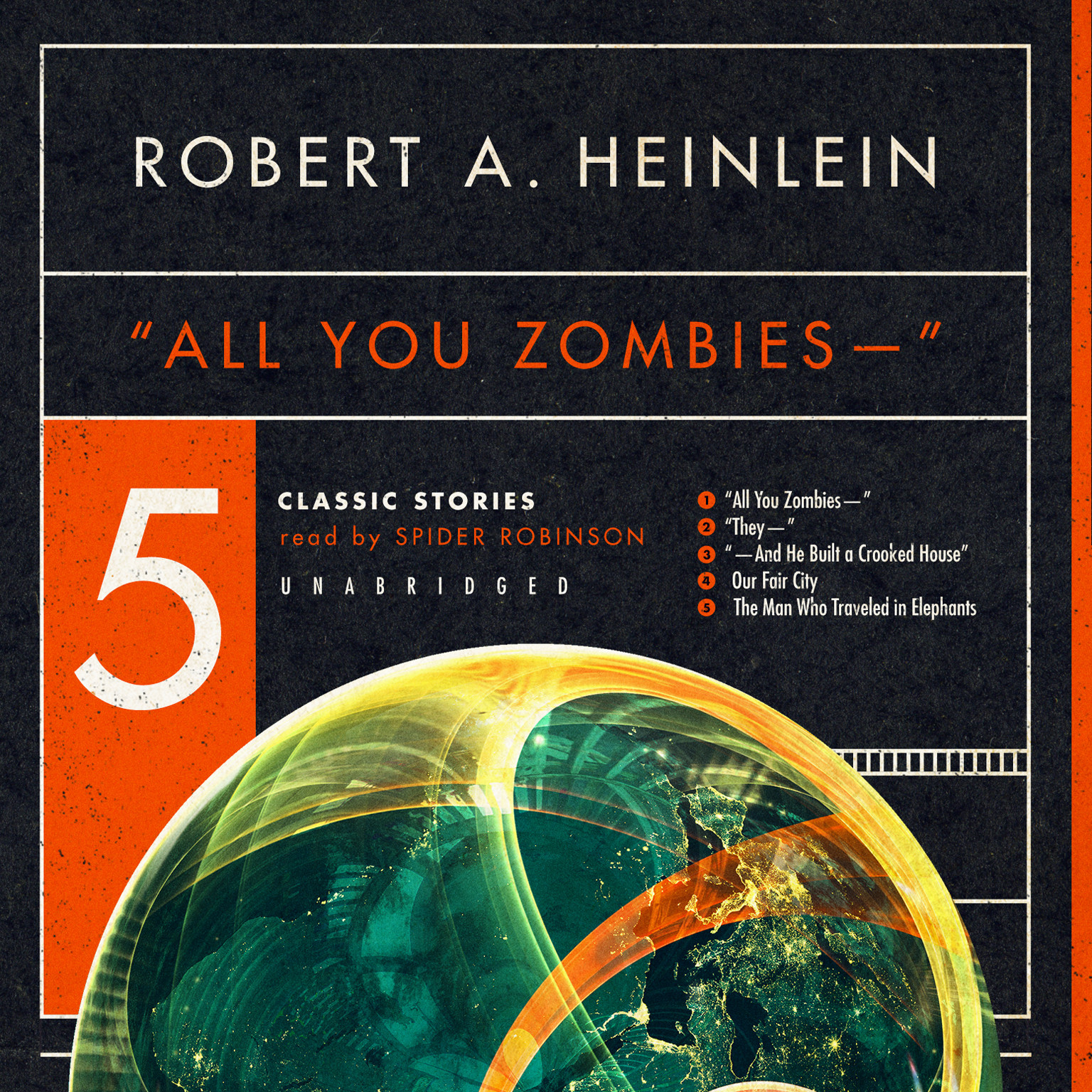 "Printable ""All You Zombies—"": Five Classic Stories Audiobook Cover Art"