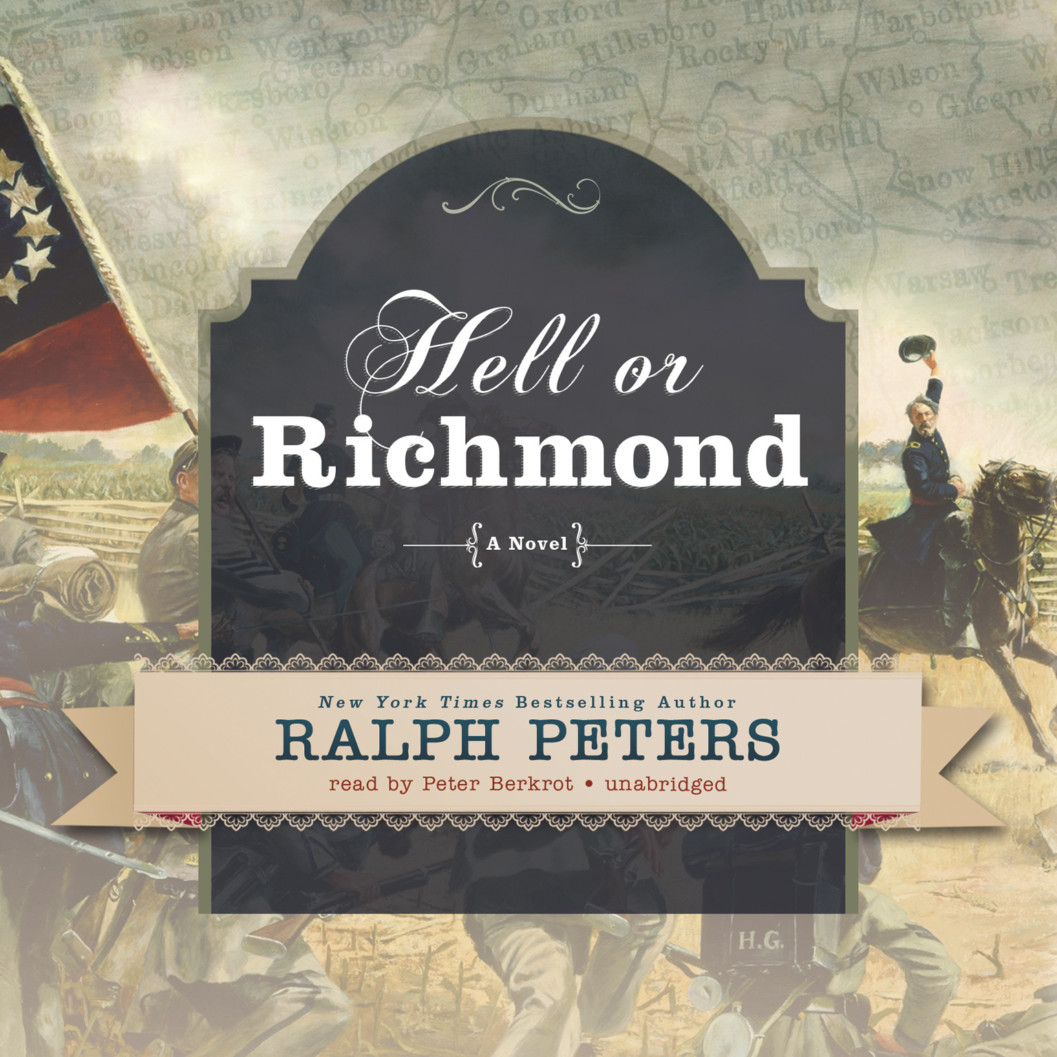 Printable Hell or Richmond: A Novel Audiobook Cover Art