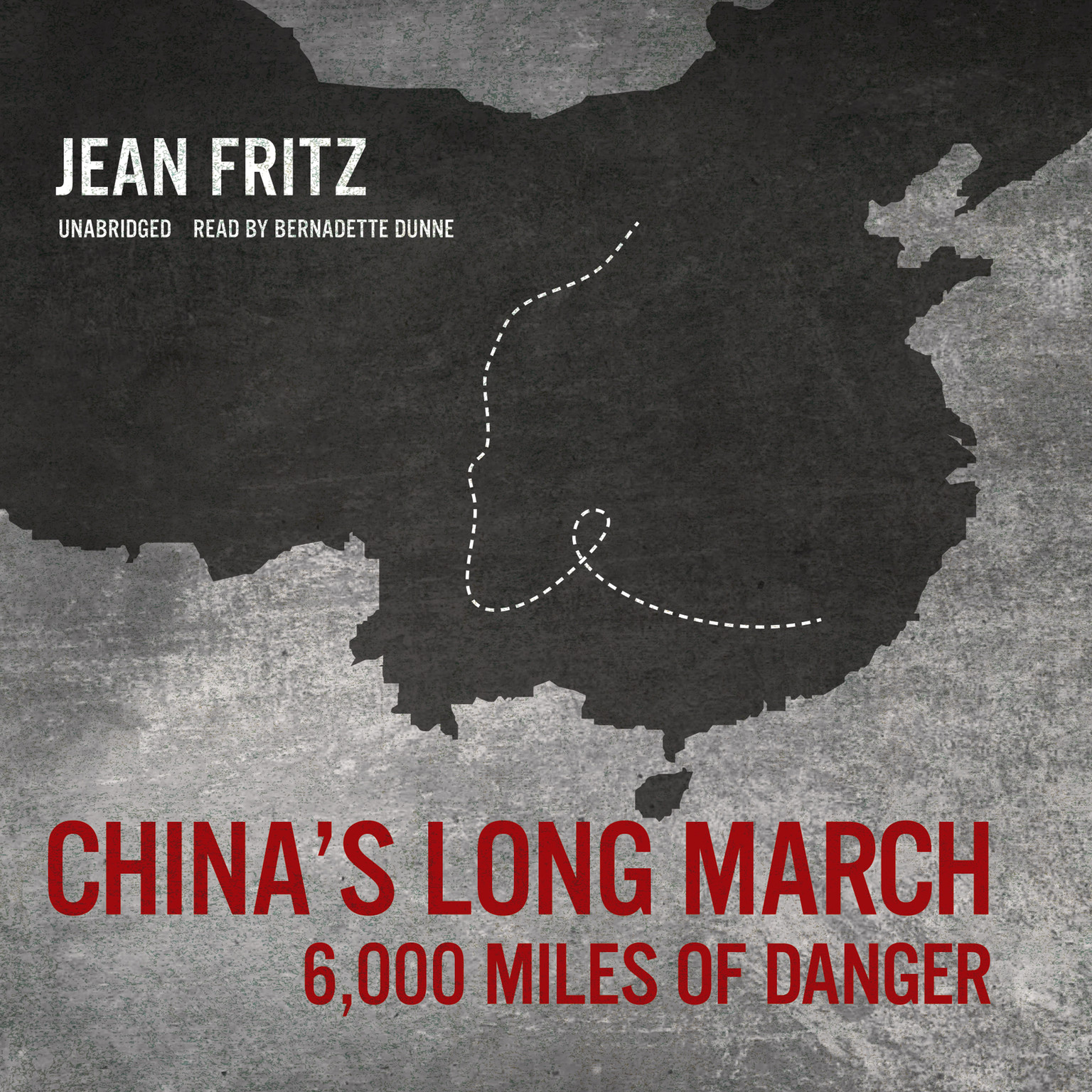 Printable China's Long March: 6,000 Miles of Danger Audiobook Cover Art