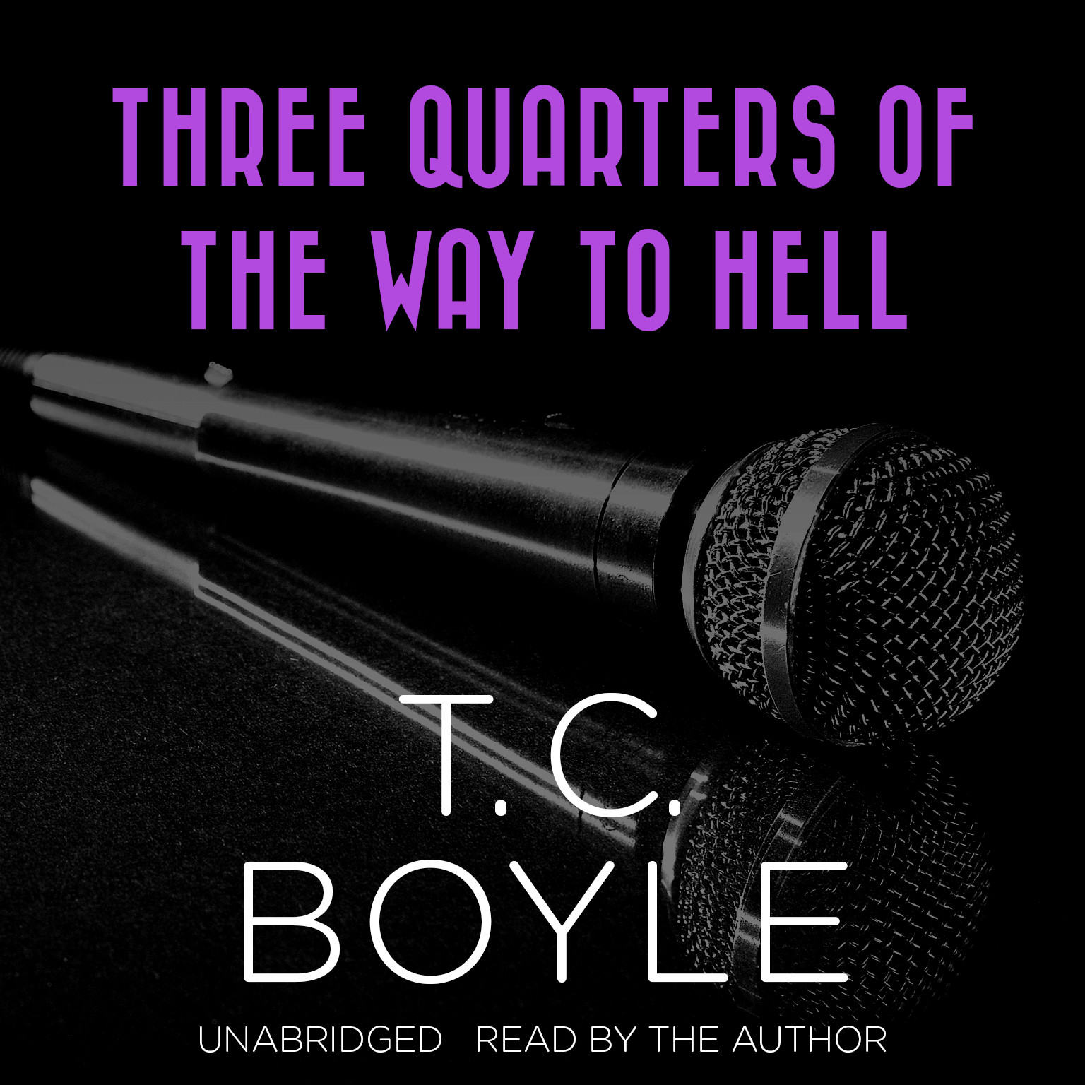 Printable Three Quarters of the Way to Hell Audiobook Cover Art