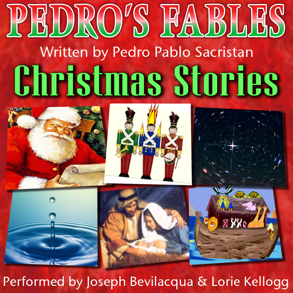 Printable Pedro's Christmas Fables for Kids Audiobook Cover Art
