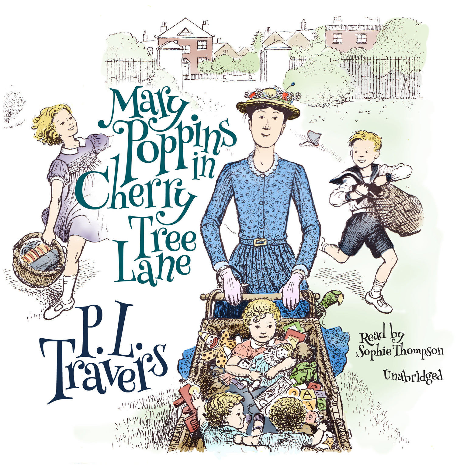 Printable Mary Poppins in Cherry Tree Lane Audiobook Cover Art