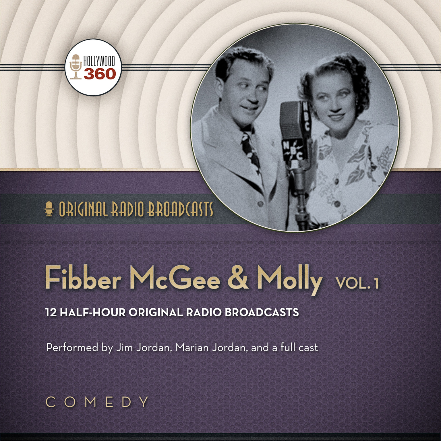 Printable Fibber McGee & Molly, Vol. 1 Audiobook Cover Art