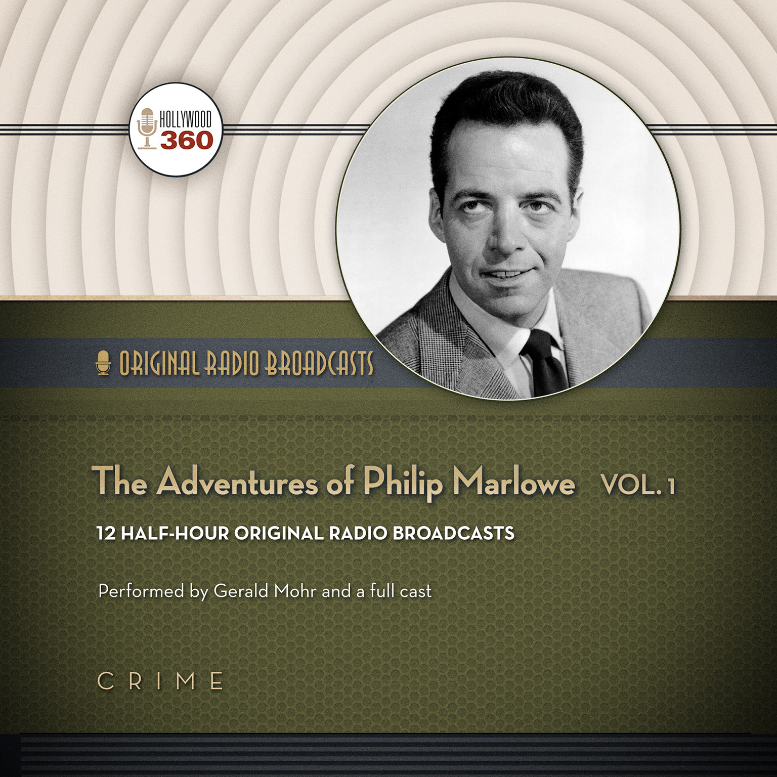 Printable The Adventures of Philip Marlowe, Vol. 1 Audiobook Cover Art