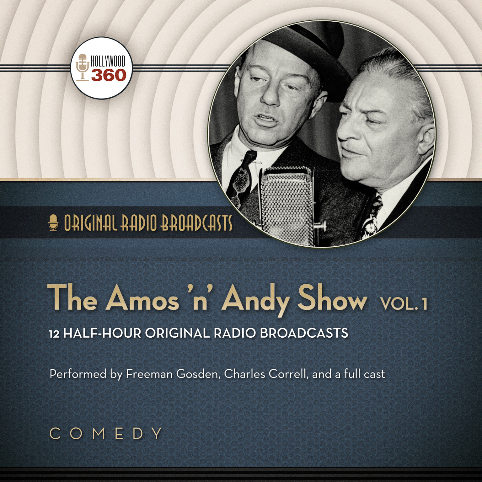 Printable The Amos 'n' Andy Show, Vol. 1 Audiobook Cover Art