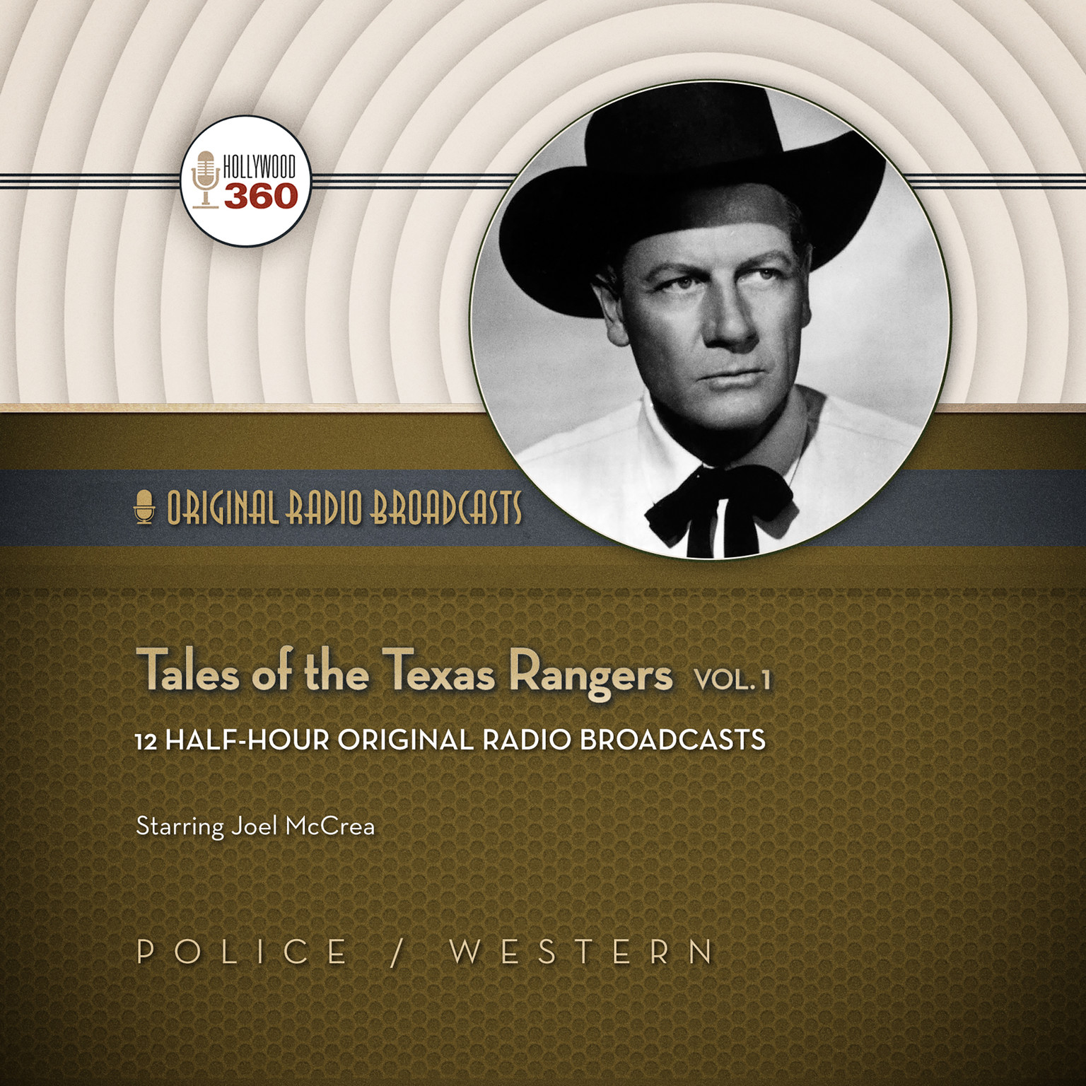 Printable Tales of the Texas Rangers, Vol. 1 Audiobook Cover Art