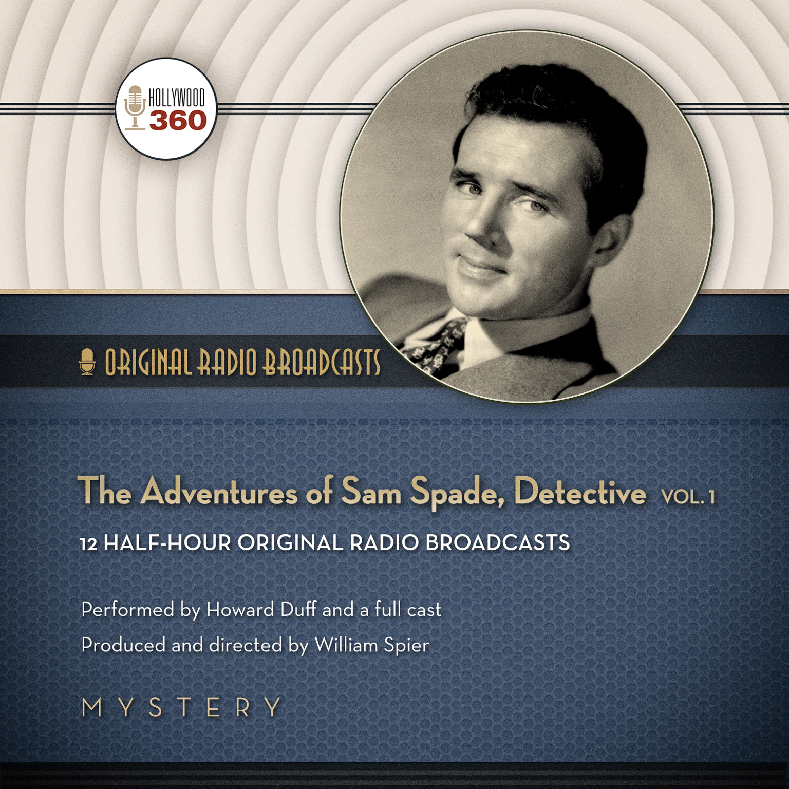 Printable The Adventures of Sam Spade, Detective, Vol. 1 Audiobook Cover Art