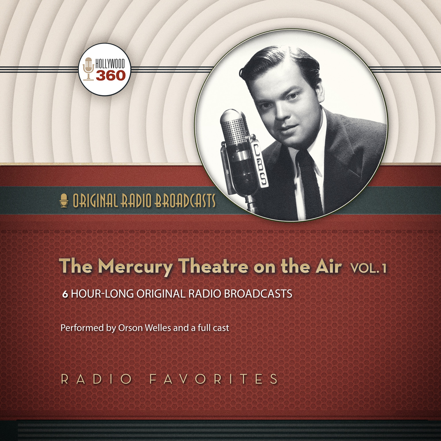 Printable The Mercury Theatre on the Air, Vol. 1 Audiobook Cover Art