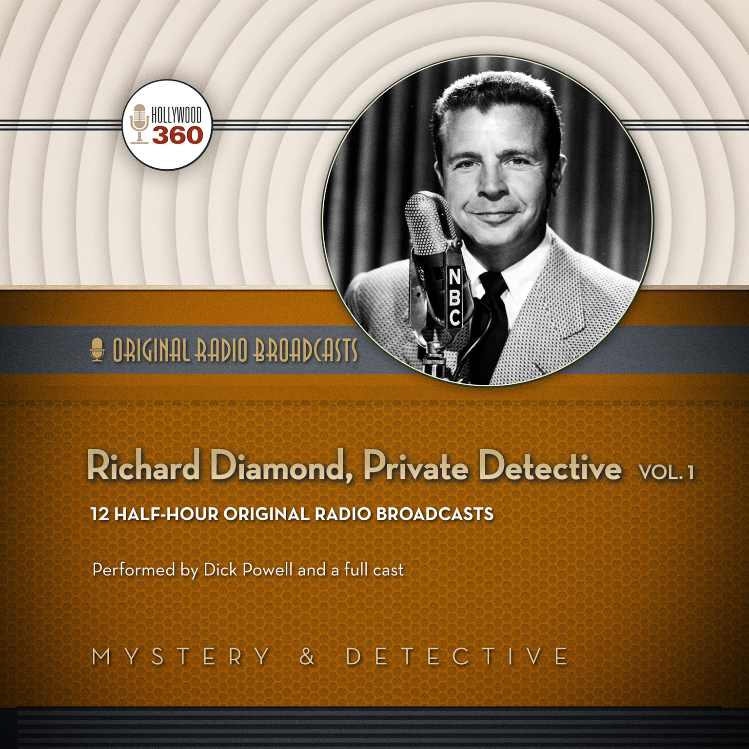 Printable Richard Diamond, Private Detective, Vol. 1 Audiobook Cover Art
