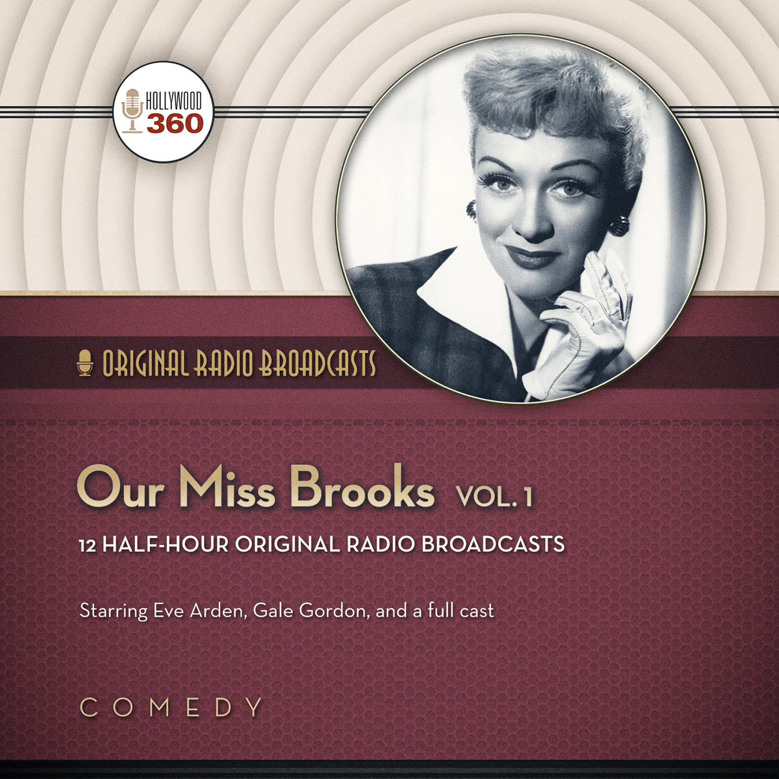 Printable Our Miss Brooks, Vol. 1 Audiobook Cover Art