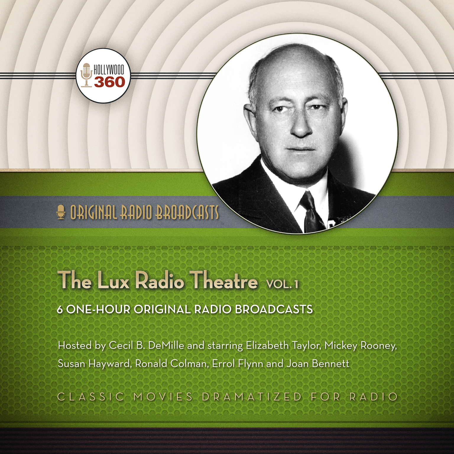Printable The Lux Radio Theatre, Vol. 1 Audiobook Cover Art
