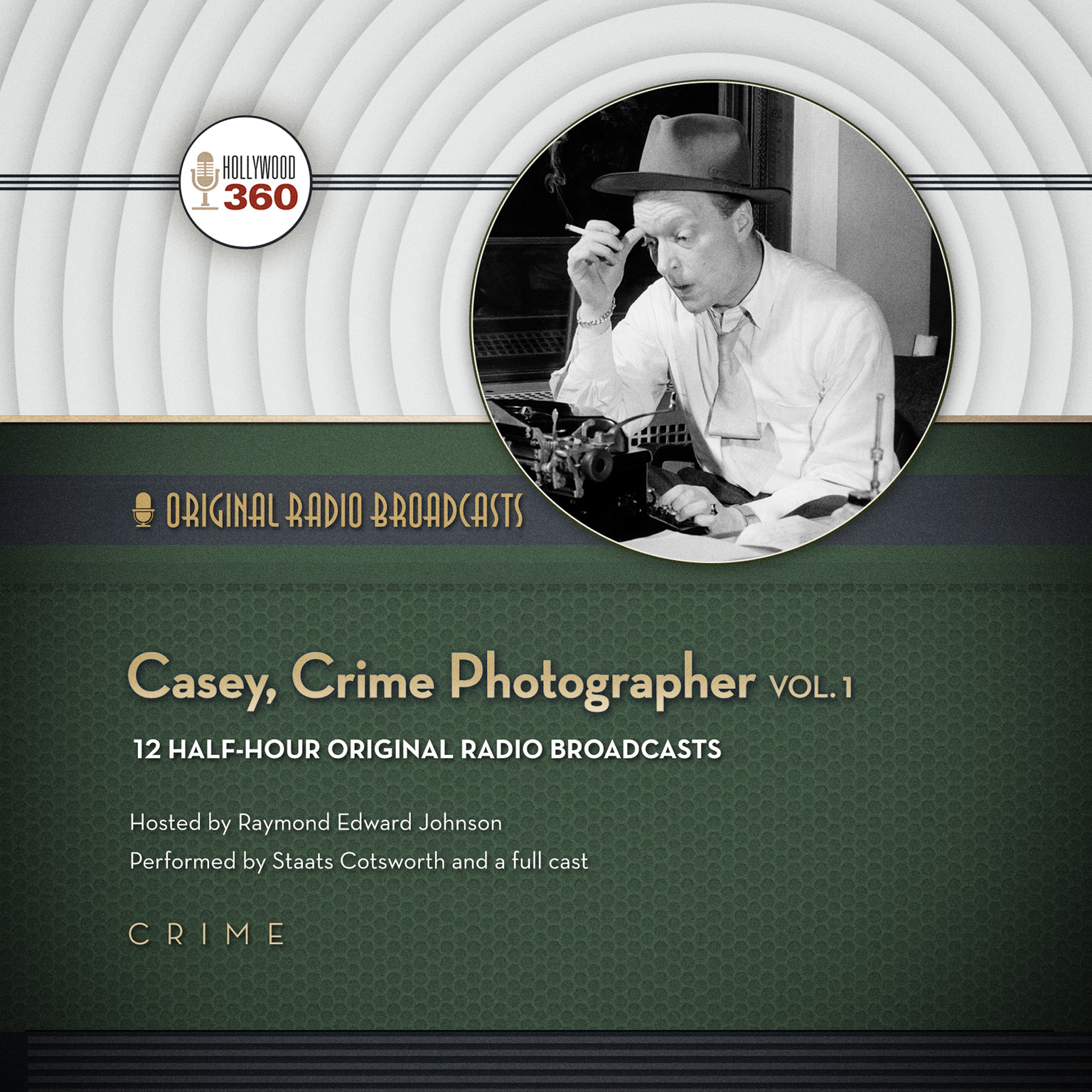 Printable Casey, Crime Photographer, Vol. 1 Audiobook Cover Art