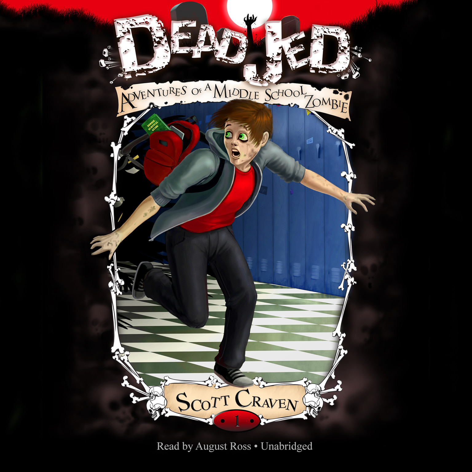 Printable Dead Jed: Adventures of a Middle School Zombie Audiobook Cover Art