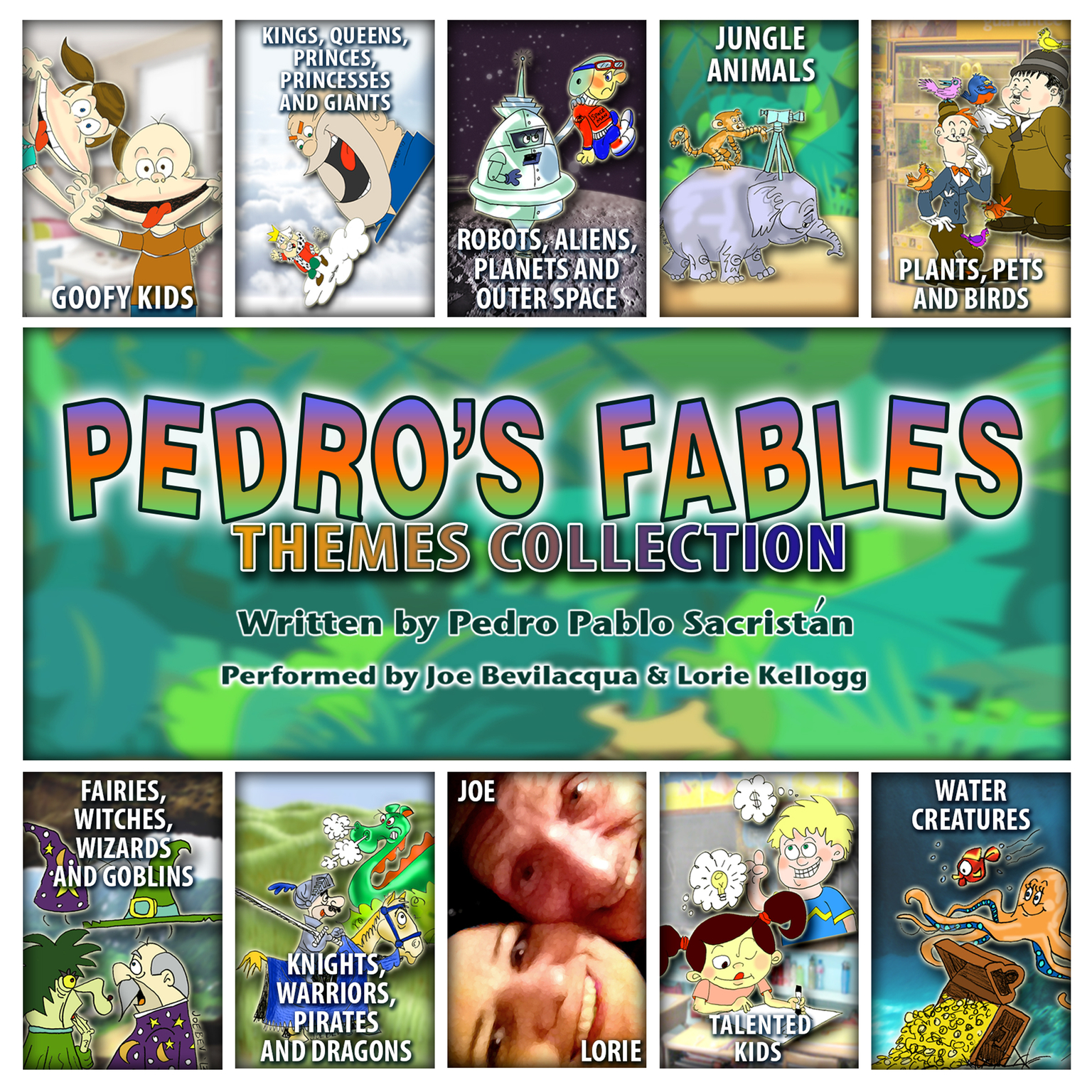 Printable The Pedro's Fables Themes Collection Audiobook Cover Art