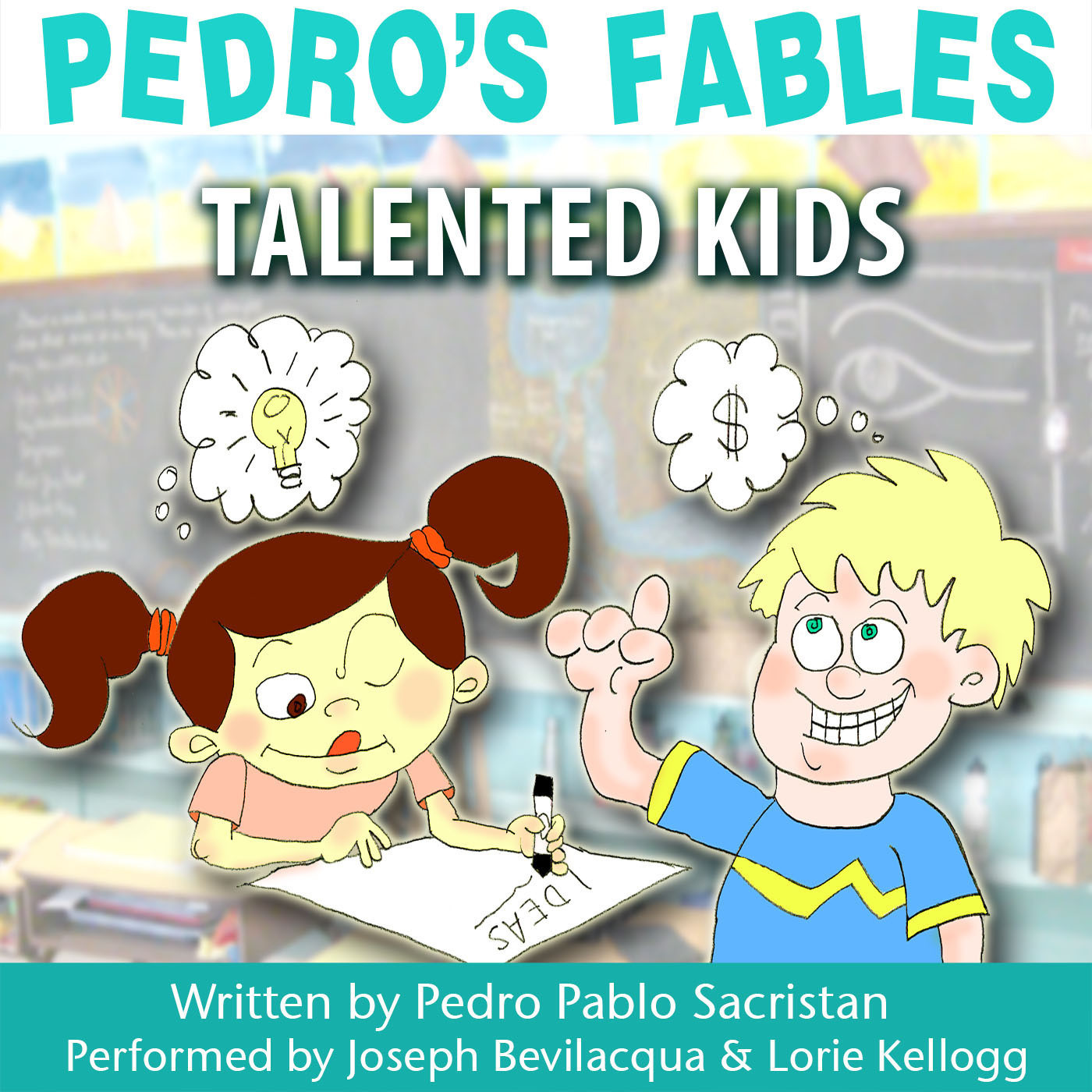 Printable Pedro's Fables: Talented Kids Audiobook Cover Art