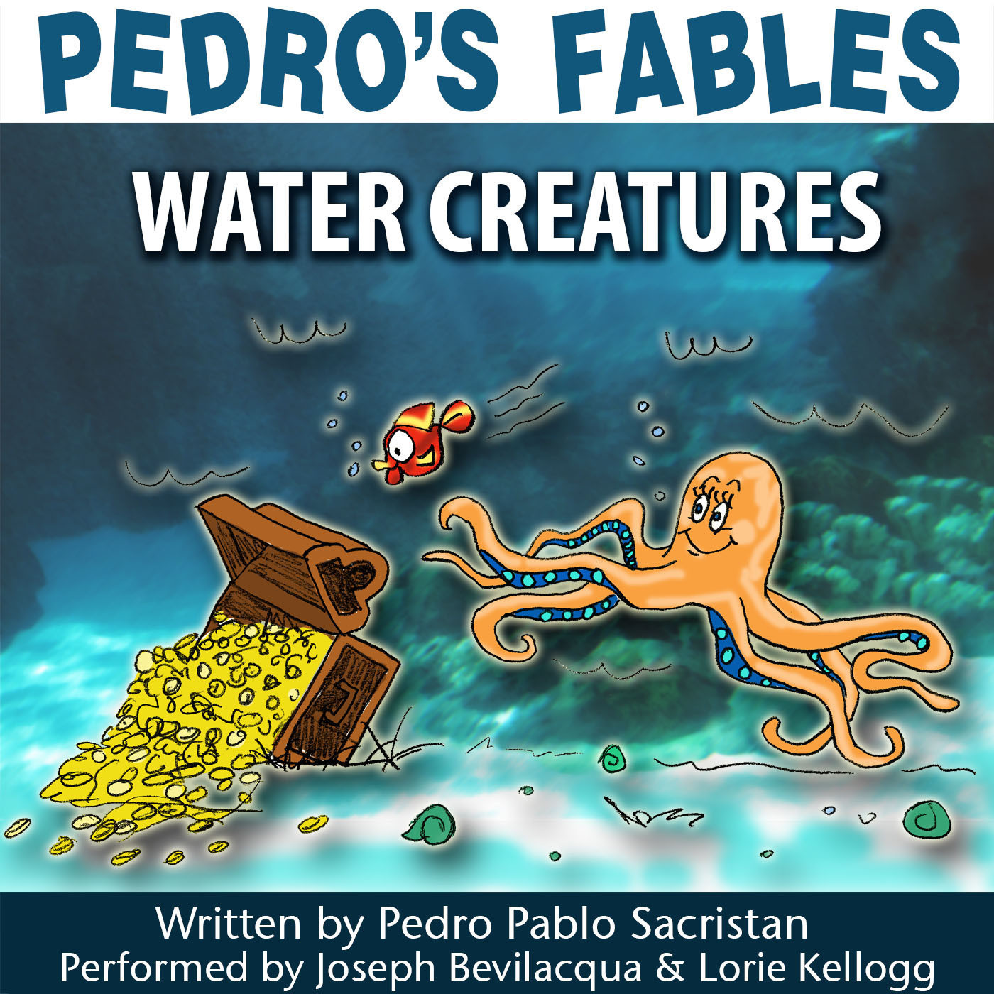 Printable Pedro's Fables: Water Creatures Audiobook Cover Art