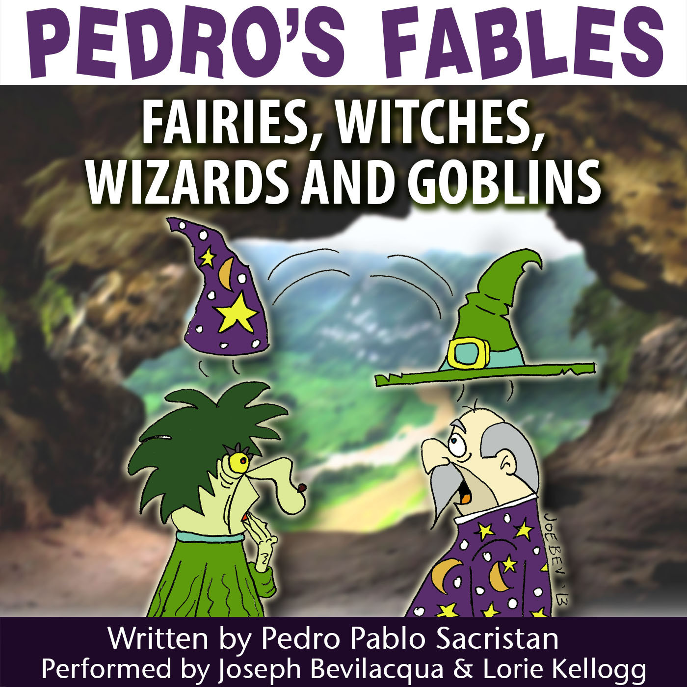 Printable Pedro's Fables: Fairies, Witches, Wizards, and Goblins Audiobook Cover Art