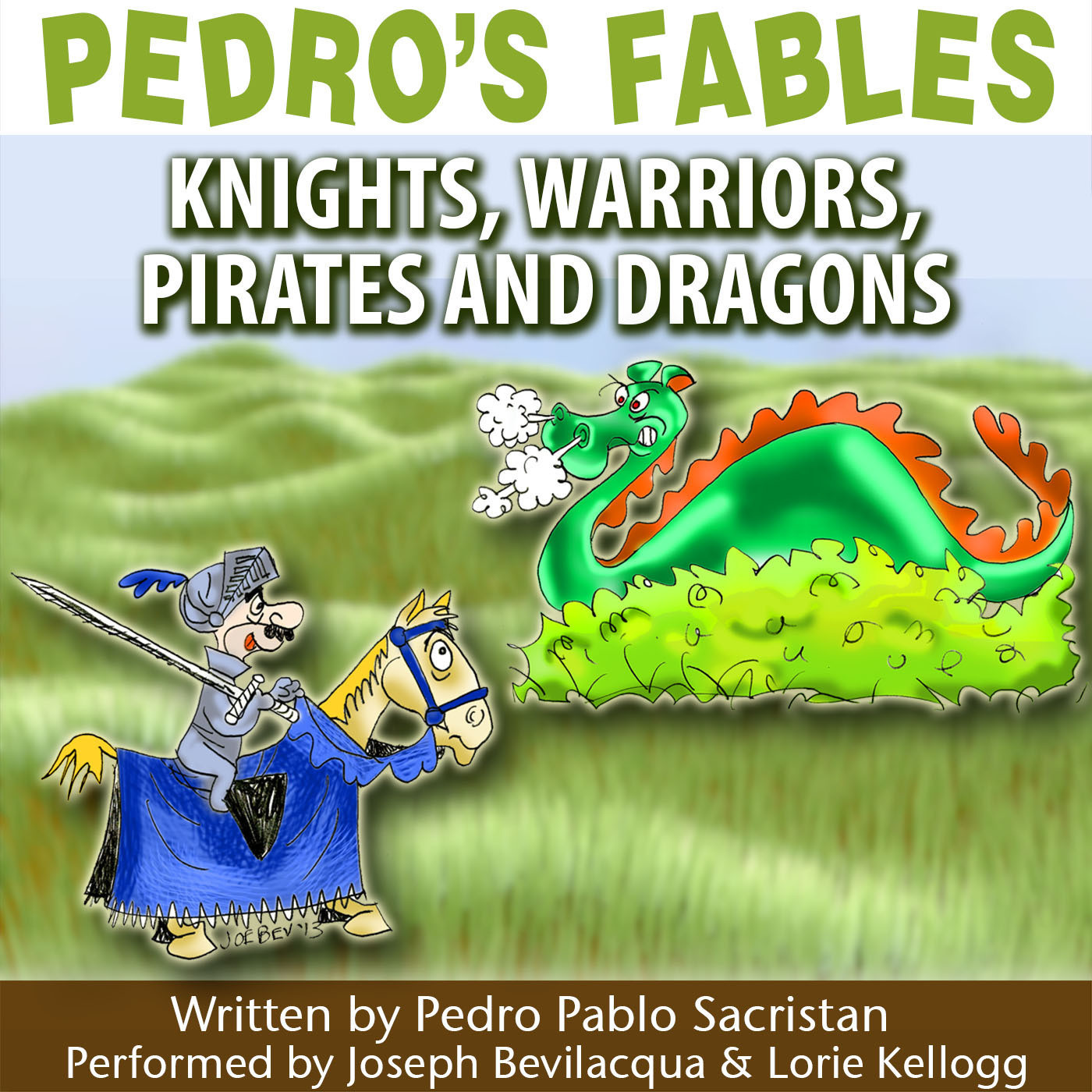 Printable Pedro's Fables: Knights, Warriors, Pirates, and Dragons Audiobook Cover Art