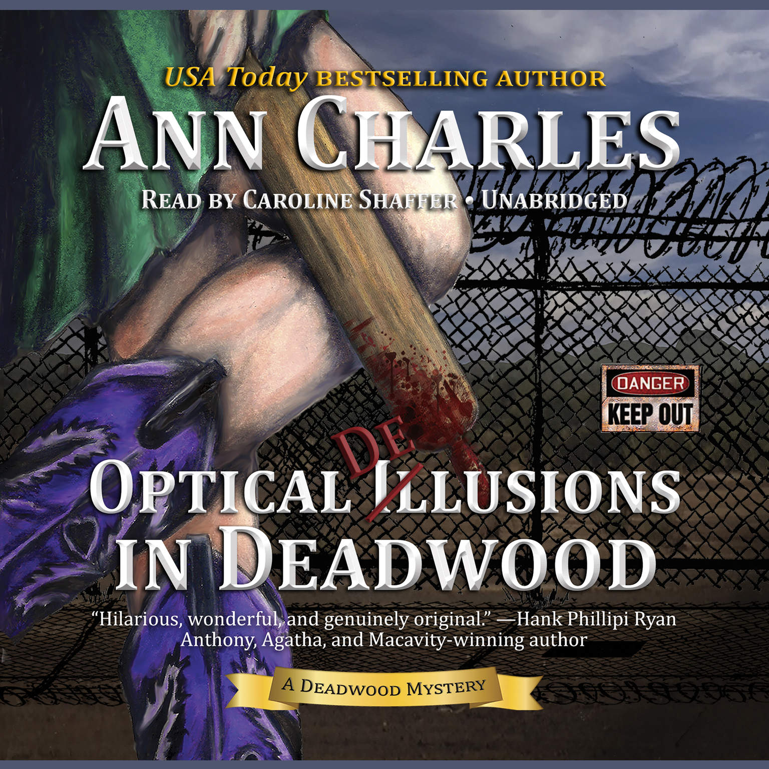 Printable Optical Delusions in Deadwood: A Deadwood Mystery Audiobook Cover Art