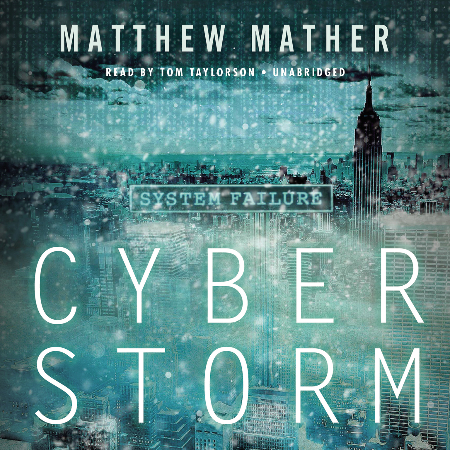 Printable CyberStorm Audiobook Cover Art