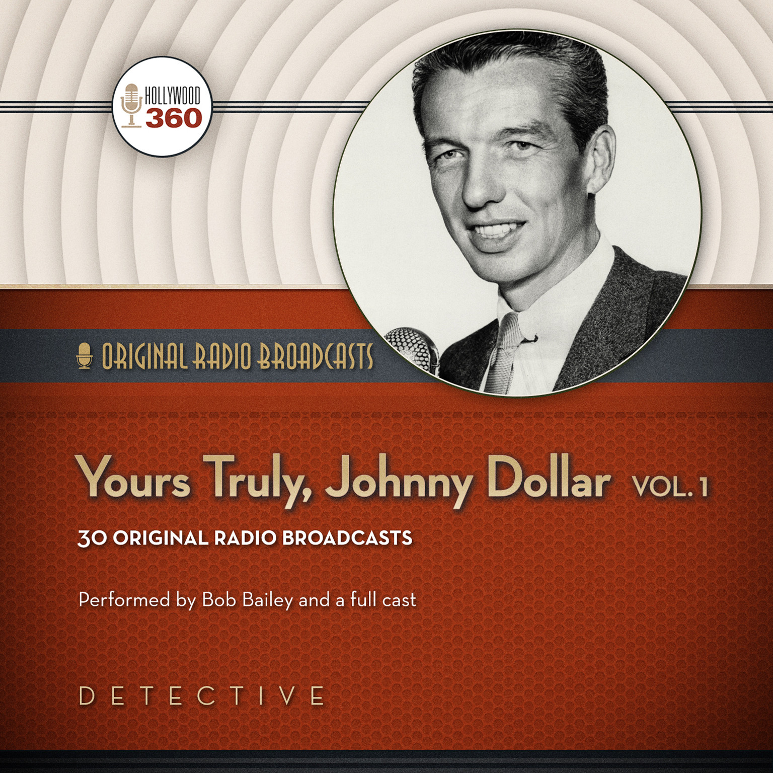 Printable Yours Truly, Johnny Dollar, Vol. 1 Audiobook Cover Art