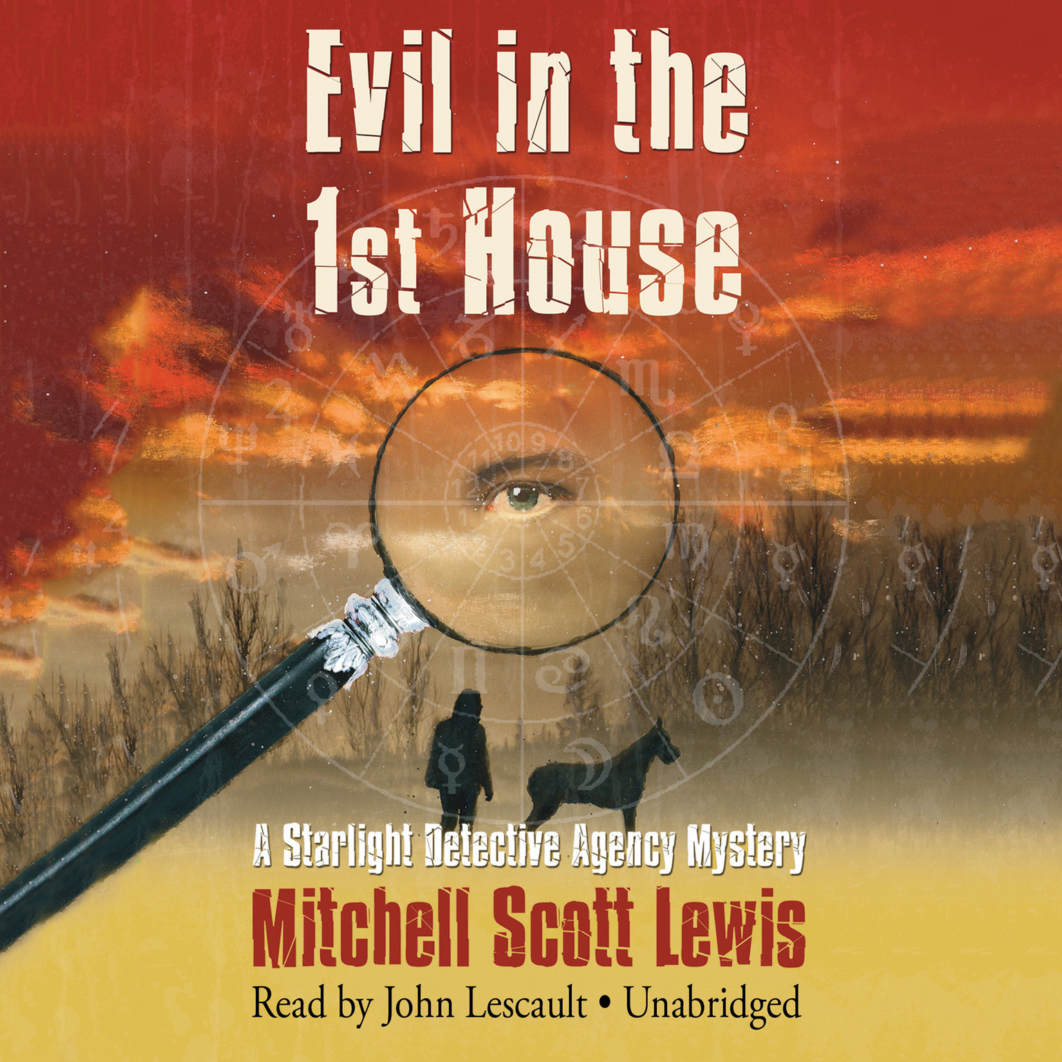 Printable Evil in the 1st House: A Starlight Detective Agency Mystery Audiobook Cover Art