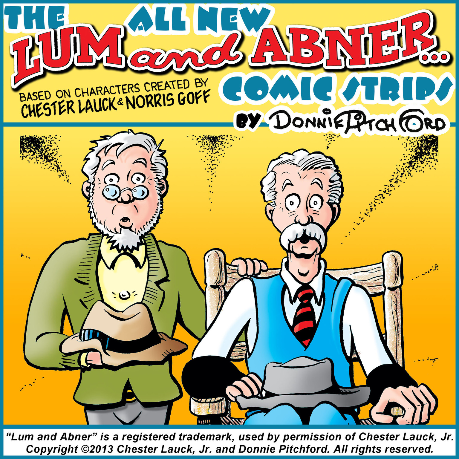 "Printable The All New ""Lum & Abner"" Comic Strips Audiobook Cover Art"