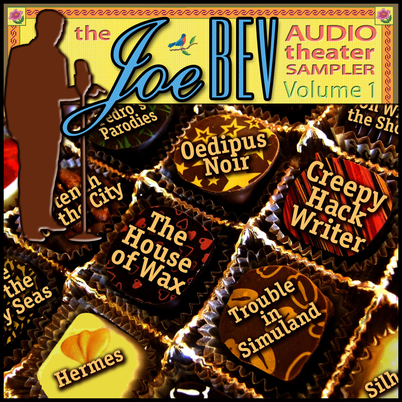 Printable A Joe Bev Audio Theater Sampler, Vol. 1 Audiobook Cover Art