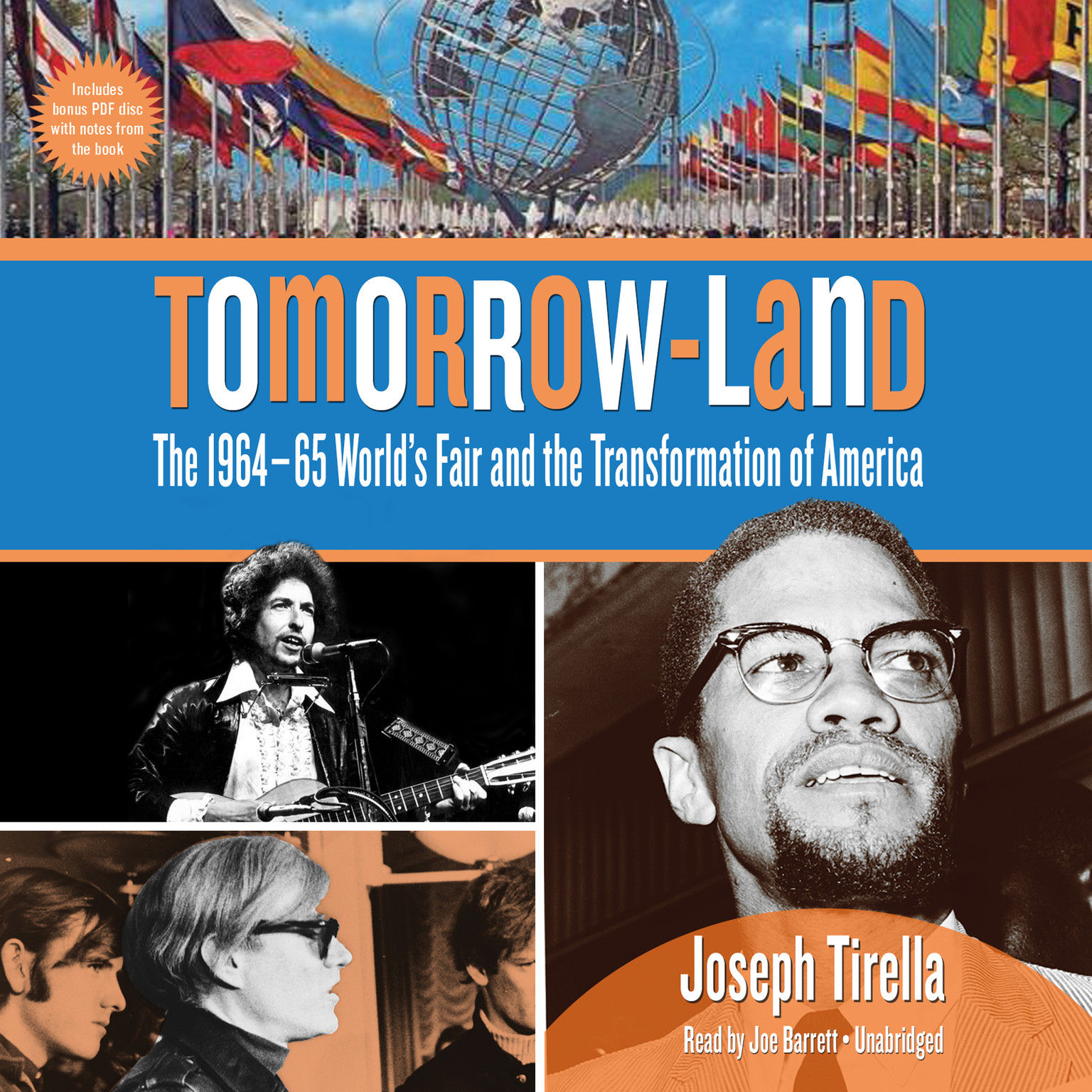 Printable Tomorrow-Land: The 1964–65 World's Fair and the Transformation of America Audiobook Cover Art