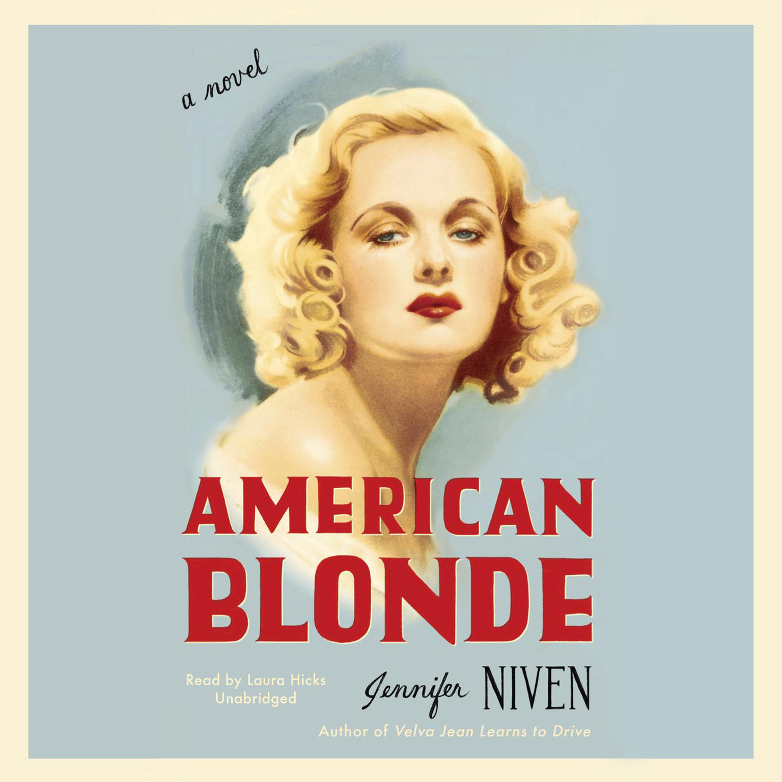 Printable American Blonde Audiobook Cover Art