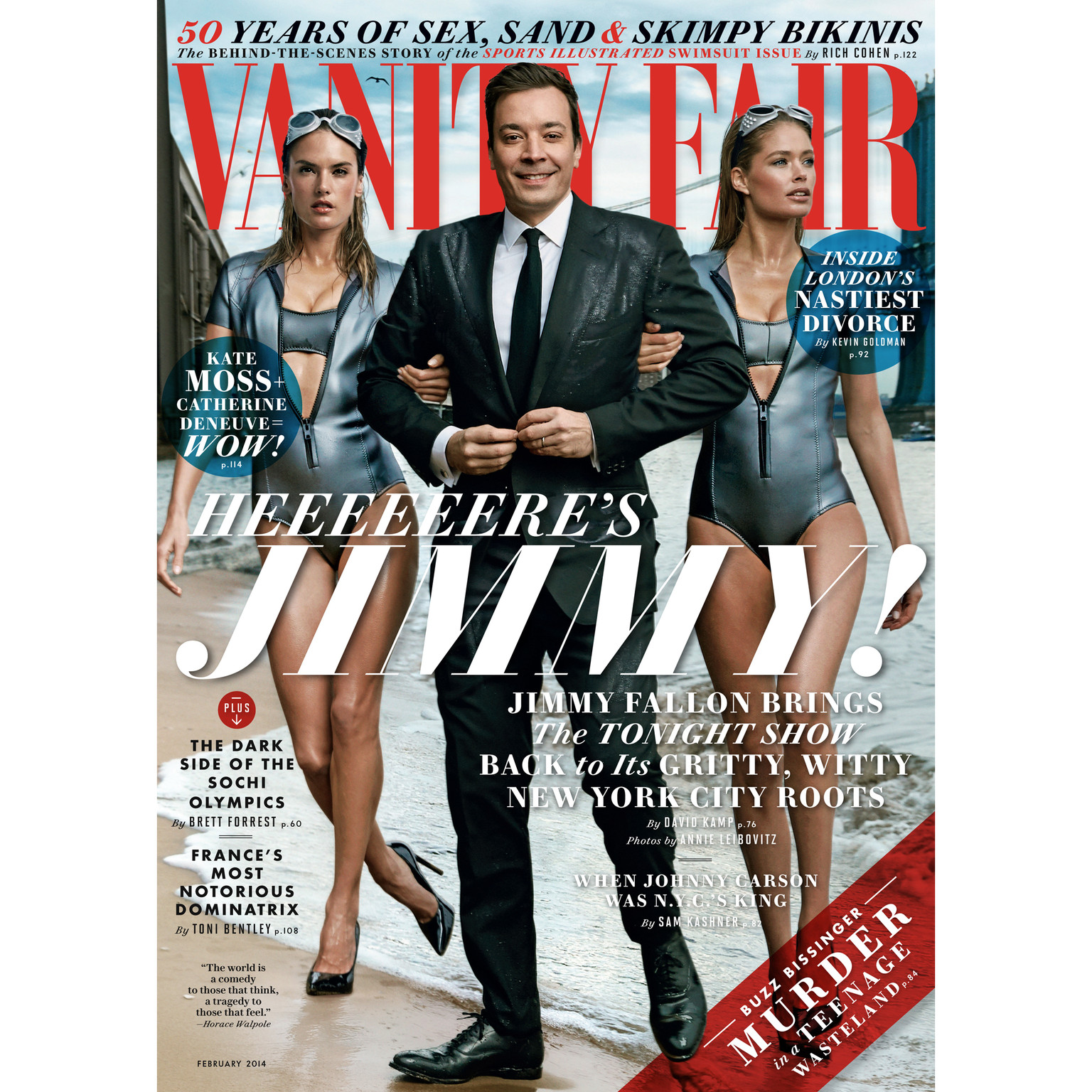Printable Vanity Fair: February 2014 Issue Audiobook Cover Art