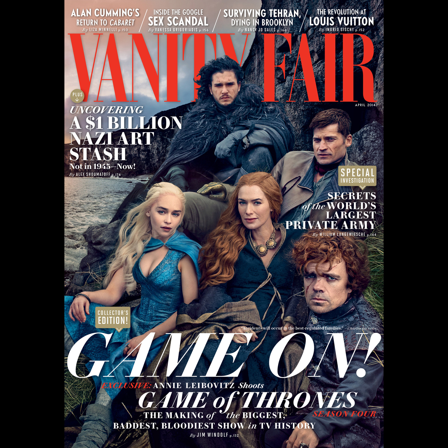 Printable Vanity Fair: April 2014 Issue Audiobook Cover Art