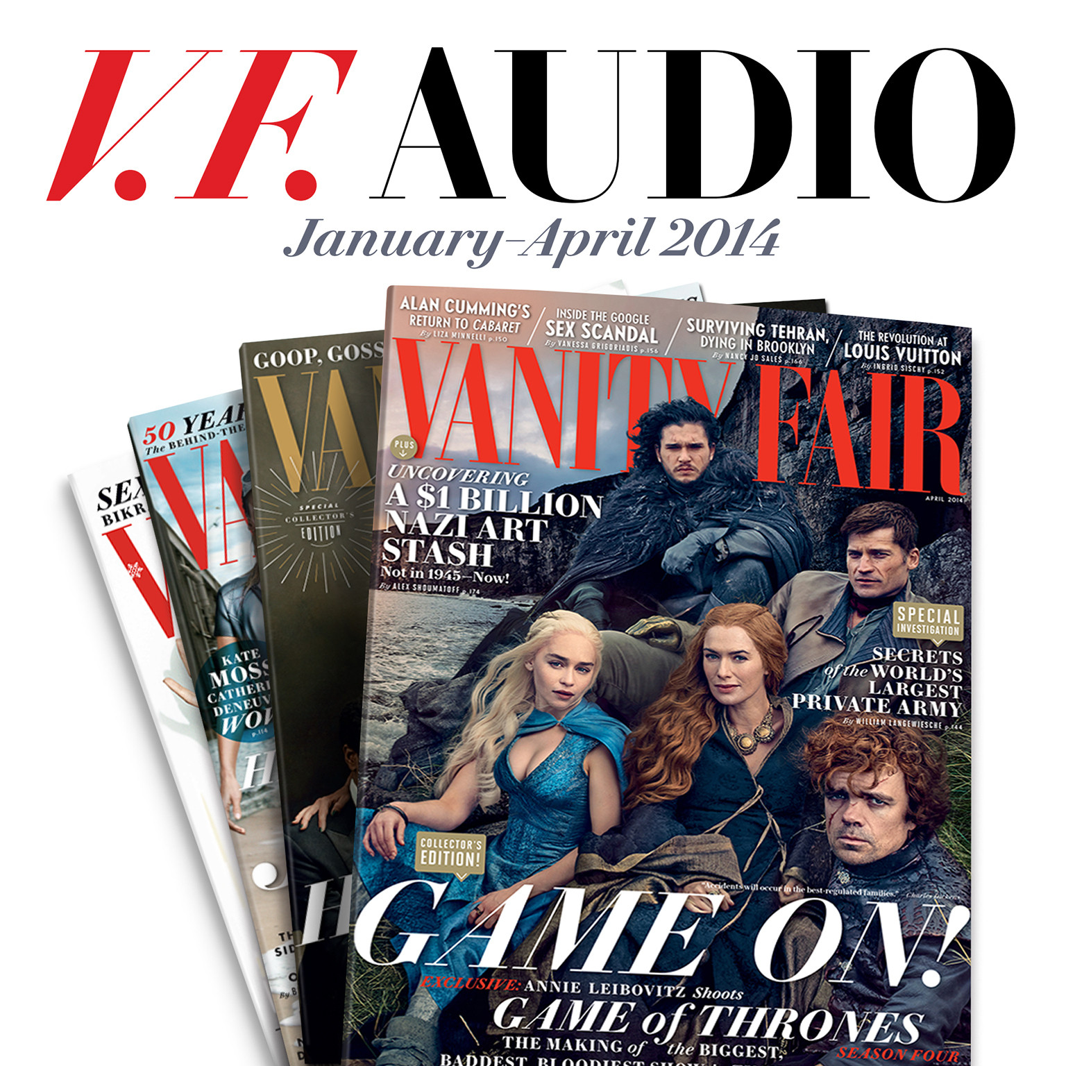 Printable Vanity Fair: January–April 2014 Issue Audiobook Cover Art