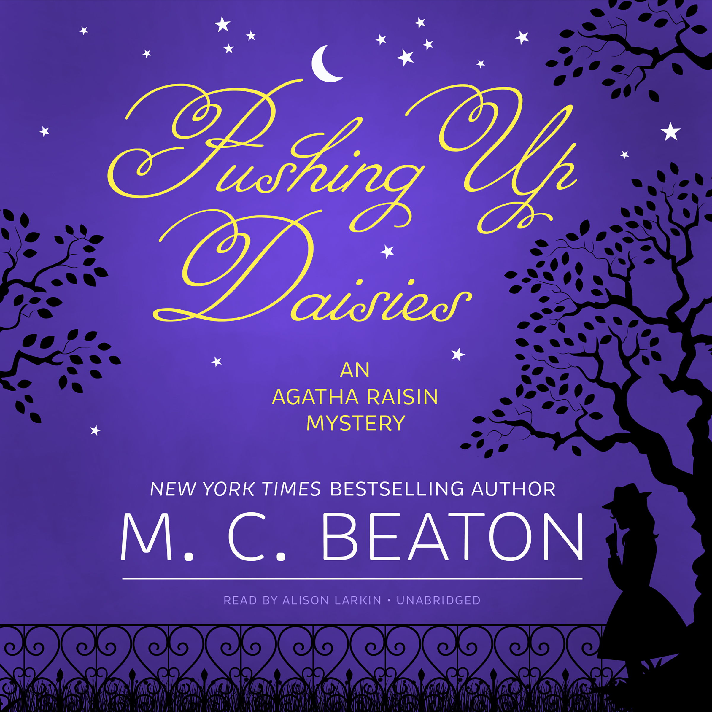 Printable Pushing Up Daisies: An Agatha Raisin Mystery Audiobook Cover Art