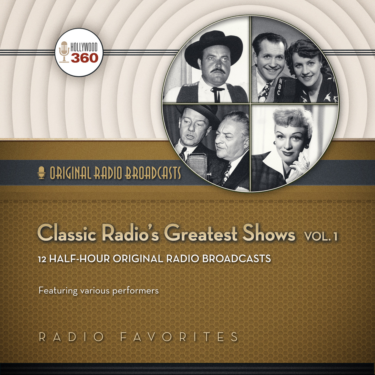 Printable Classic Radio's Greatest Shows, Vol. 1 Audiobook Cover Art