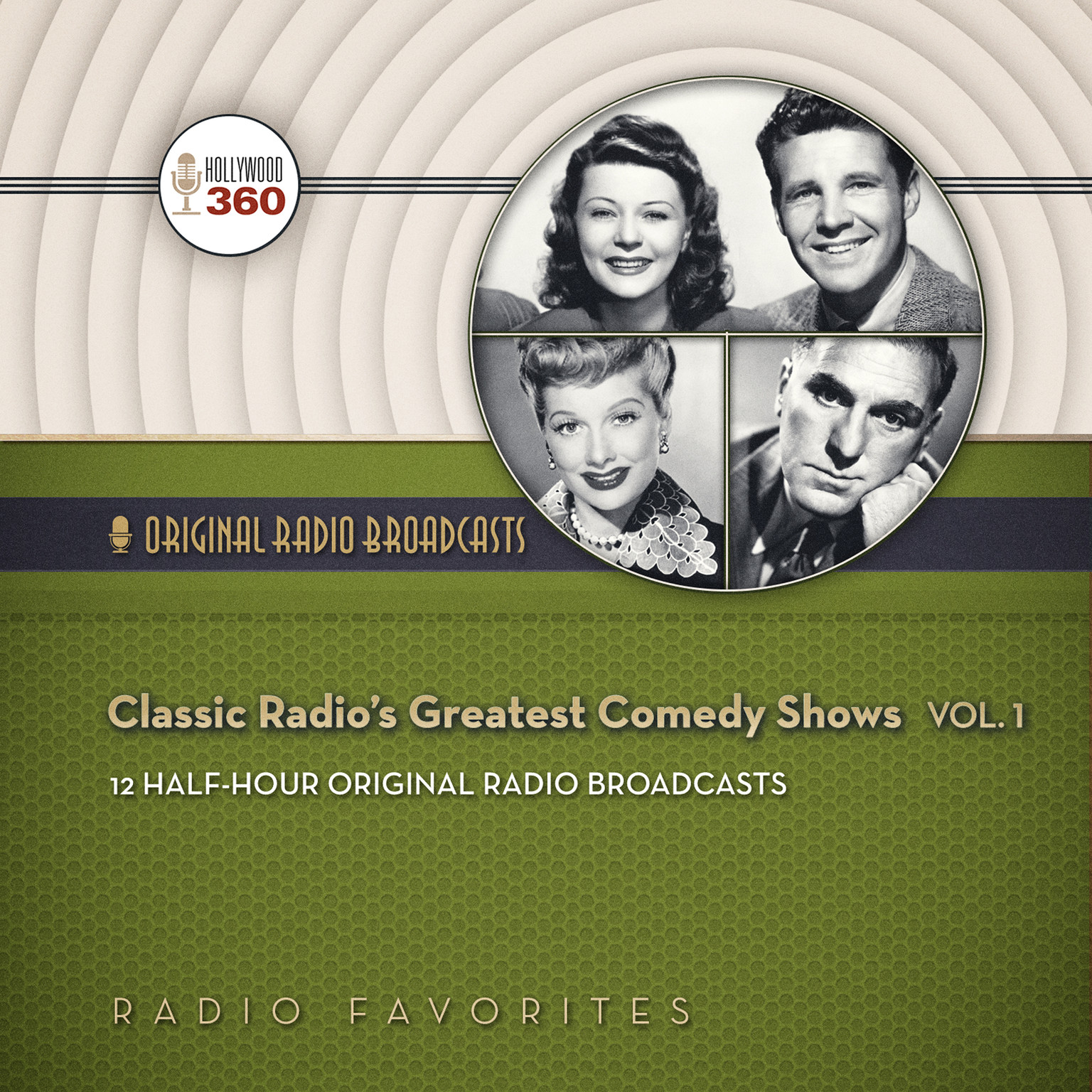 Printable Classic Radio's Greatest Comedy Shows, Vol. 1 Audiobook Cover Art