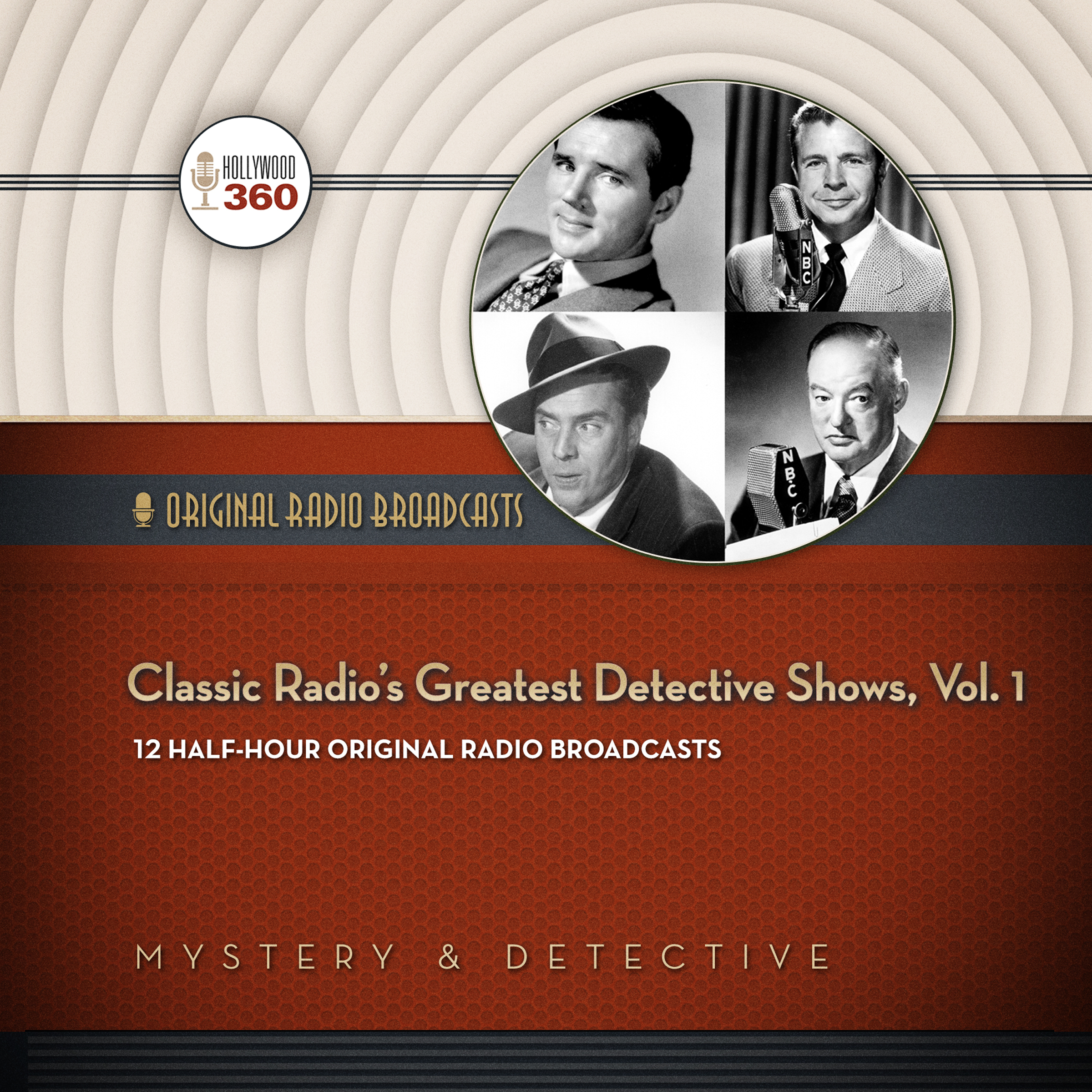 Printable Classic Radio's Greatest Detective Shows, Vol. 1 Audiobook Cover Art