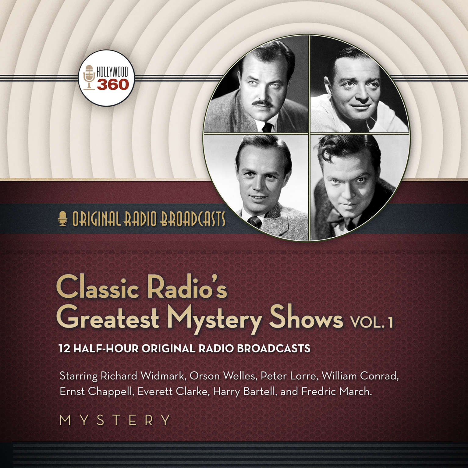 Printable Classic Radio's Greatest Mystery Shows, Vol. 1 Audiobook Cover Art