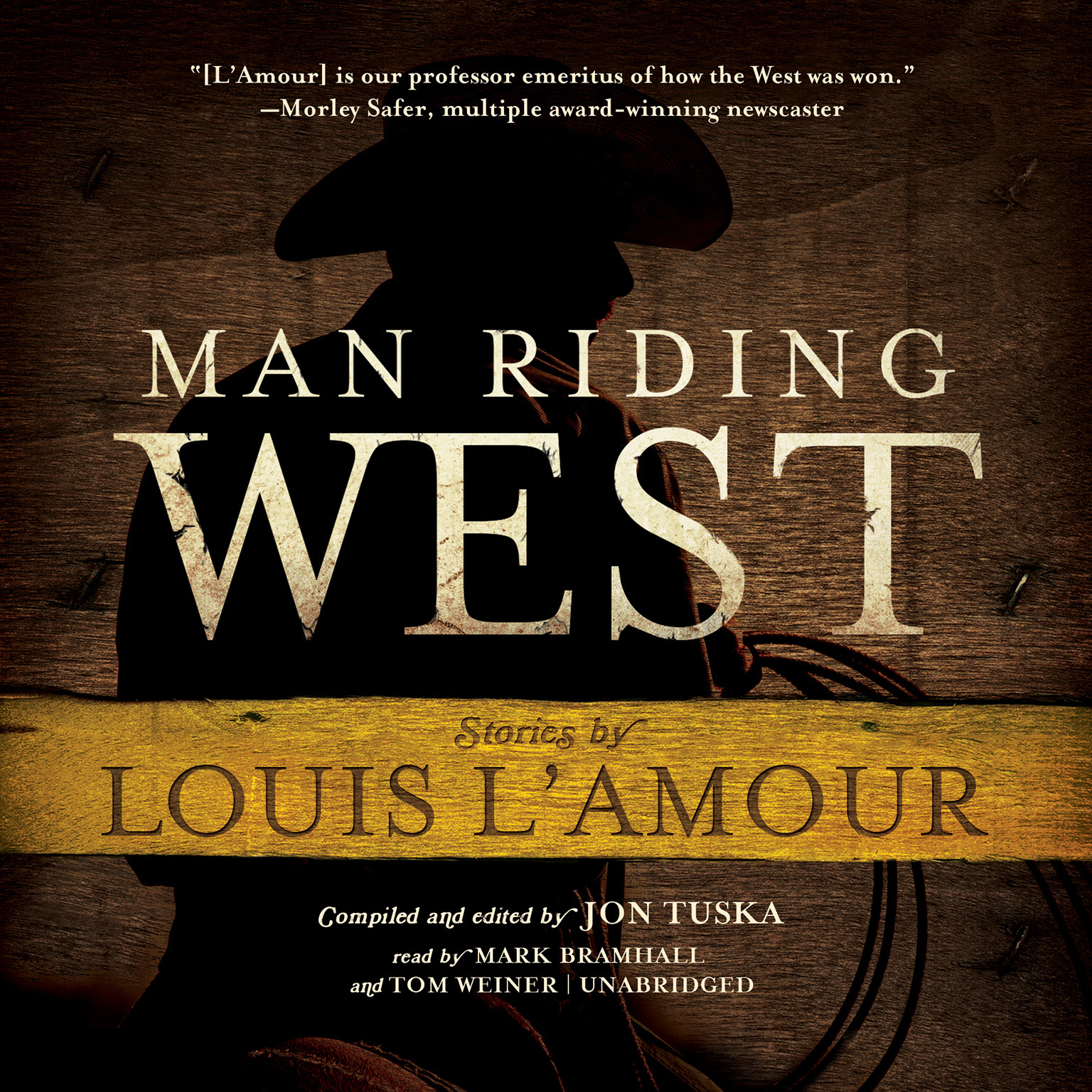 Printable Man Riding West Audiobook Cover Art