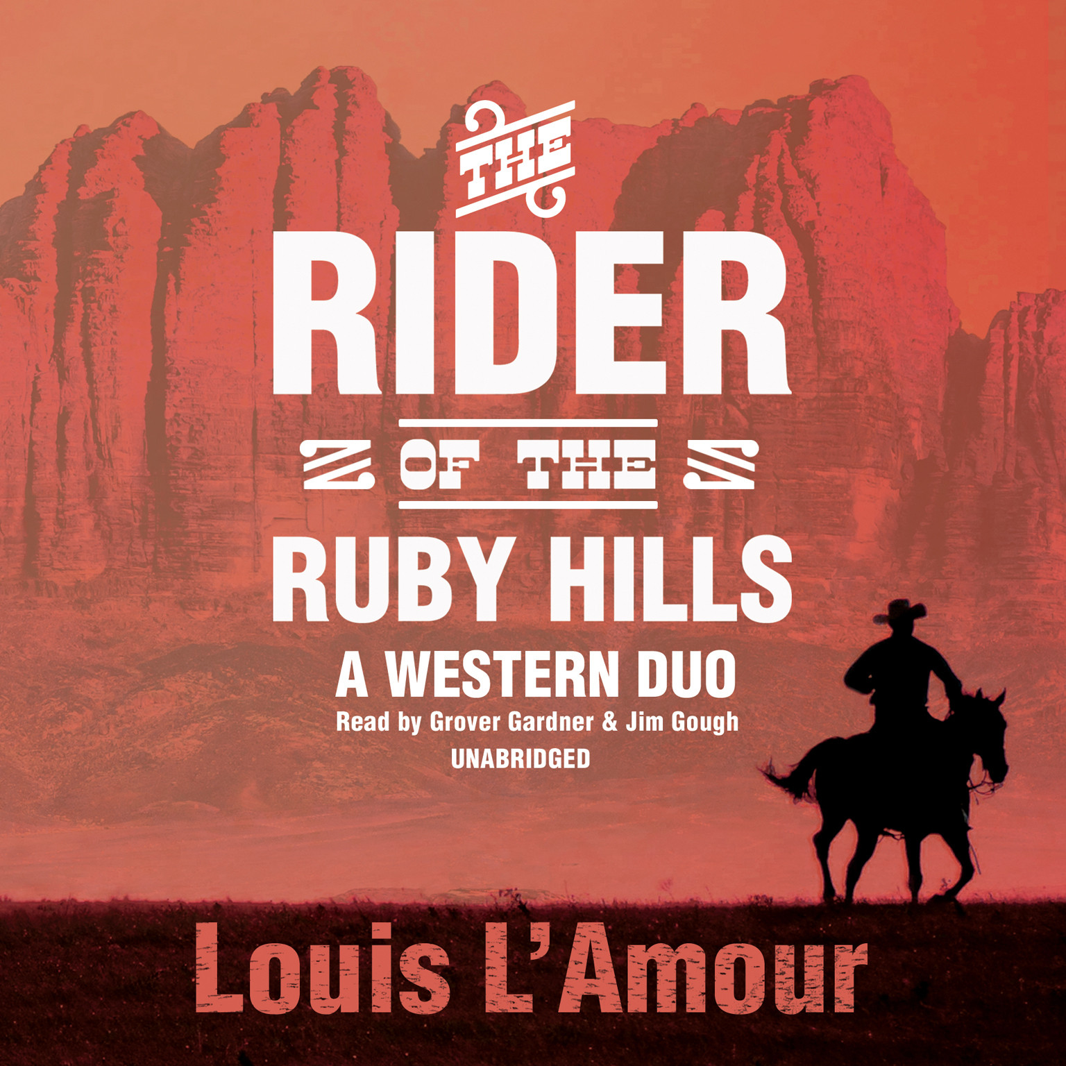 Printable The Rider of the Ruby Hills: A Western Duo Audiobook Cover Art