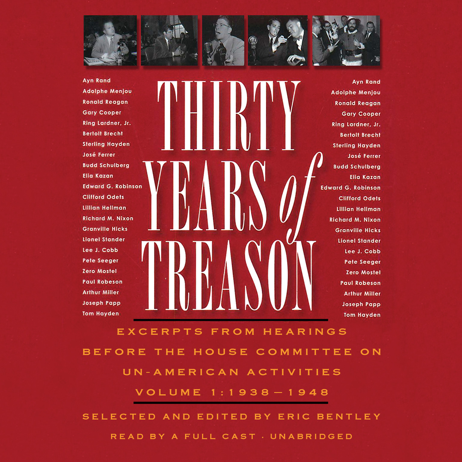 Printable Thirty Years of Treason, Vol. 1: Excerpts from Hearings before the House Committee on Un-American Activities, 1938–1948 Audiobook Cover Art