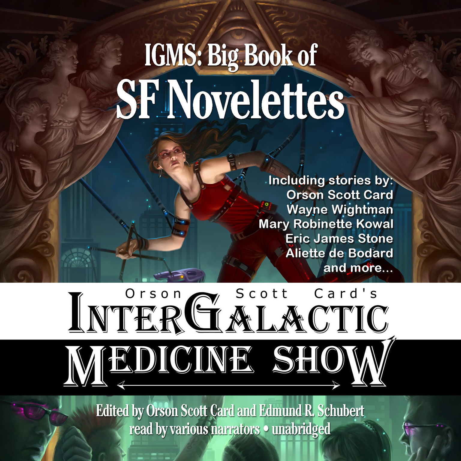 Printable Orson Scott Card's Intergalactic Medicine Show: Big Book of SF Novelettes Audiobook Cover Art