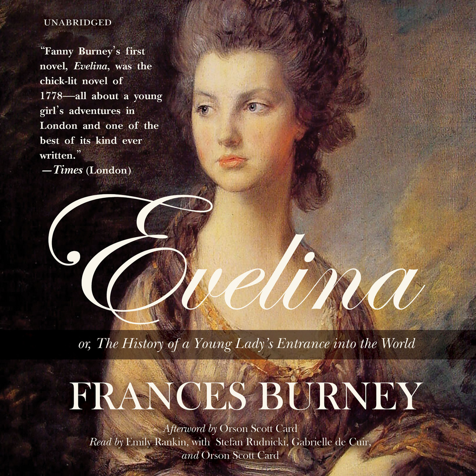 Printable Evelina: or, The History of a Young Lady's Entrance into the World Audiobook Cover Art
