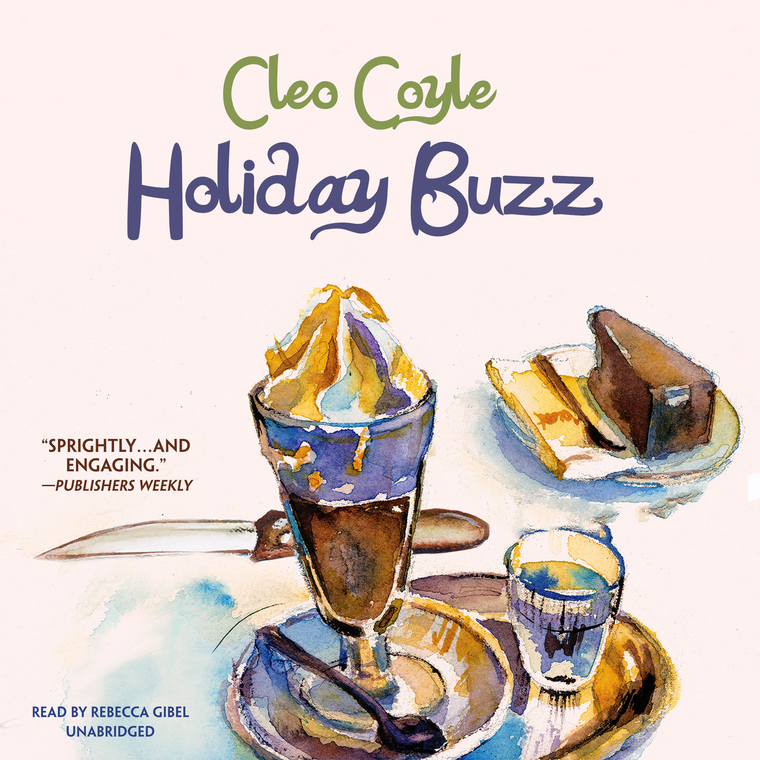 Printable Holiday Buzz Audiobook Cover Art