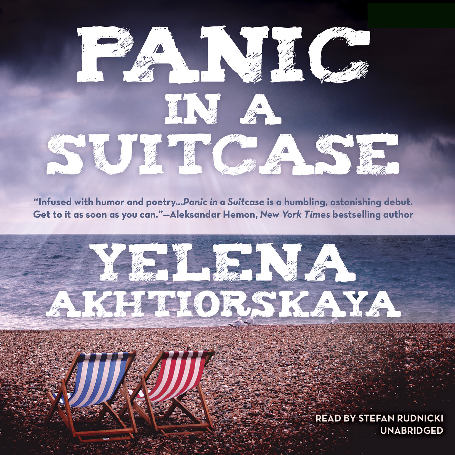 Printable Panic in a Suitcase Audiobook Cover Art